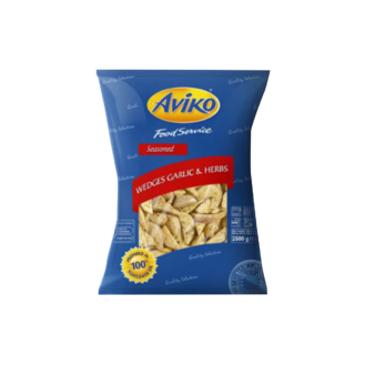 Patate Aviko Wedges Garlic & Herbs 4/2.5kg