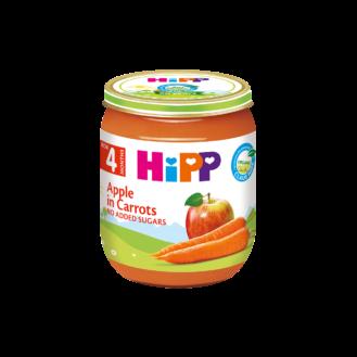 HiPP Pure me mollë-karrotë