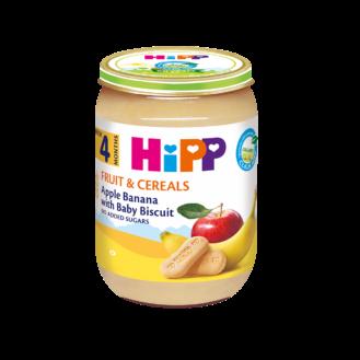 HiPP Pure mollë-banane-biskota