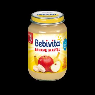 Bebevita Pure banane & mollë