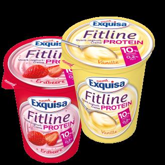 Artikulli –003020- Exquisa Fitline Lulesht/Vanilje 6x400gr. Origjina - Karwendel Werke, 86807 Buchloe West, Gjermani.  Perberja : Për të gjithë dashamirët e variacioneve të ëmbla, proteina jonë E hollë Fitline Vanilje me një aromë të imët vanilje është e duhura.Perberesit: Salce kosi , 10% përgatitje vanilje (ujë, saharoze, shurup glukozë-fruktozë, niseshte e modifikuar, aromë natyrore burbon-vanilje, aromë, agjent ngjyrosës: karotinë ëmbëlsues: sukraloza, acesulfame K) kos 5% i bërë nga qumështi i skremuar.  Vlerat ushqyese për 100g:Vlera kalorifike 290 kJ / 68 kcal,Yndyrë 0,2 g,prej të cilave acide yndyrore të ngopura 0,1 g,Karbohidratet 6,2 g,nga të cilat sheqeri 5,9 g,Proteina 10.0 g,Kripë 0,10 g.  Exquisa  me shije frute, me 10% proteina, vetëm 0.2% yndyrë dhe pakrahasueshëm kremoze: kjo është Exquisa Fitline Protein  LuleshtrydhePerberesit :Salce kosi 10% luleshtrydhe për përgatitjen e frutave (40% luleshtrydhe, glukozë - shurup fruktoza, saharoze, niseshte e modifikuar, aromë, ngjyrosje e frutave dhe koncentrateve bimore (rrush pa fara e zezë, karrota). Ëmbëlsues: suraloza, acesulfame K), kos 5% e bërë nga qumështi i skremuar.  Vlerat ushqyese për 100g:Vlera kalorifike 285 kJ / 67 kcal,Yndyrë 0,2 g,nga të cilat anët e dhjamit të konfirmuara 0,1 g,leng 5,8 g,prej të cilave sheqerna 5,6 g,Proteina 10.0 g,Kripë 0,10 g.   Jetegjatesia :41 dite.Te ruhet ne temperature: +2°C,+8°C. Produkti te perdoret brenda 5 diteve nga momenti i hapjes.